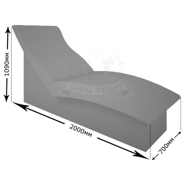 Лежак для хамама Дзенью
