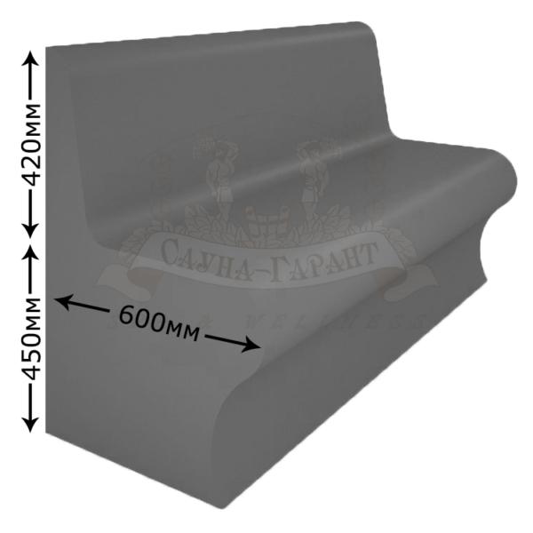 Сиденье лежак Комодо для хамама